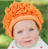 Zooni Orange Lion Baby Hat - FULLY LINED IN FLEECE