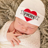 I Love Mom Newborn Boy Hospital Hat