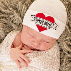 I Love Mom Newborn Boy Hospital Hat icon