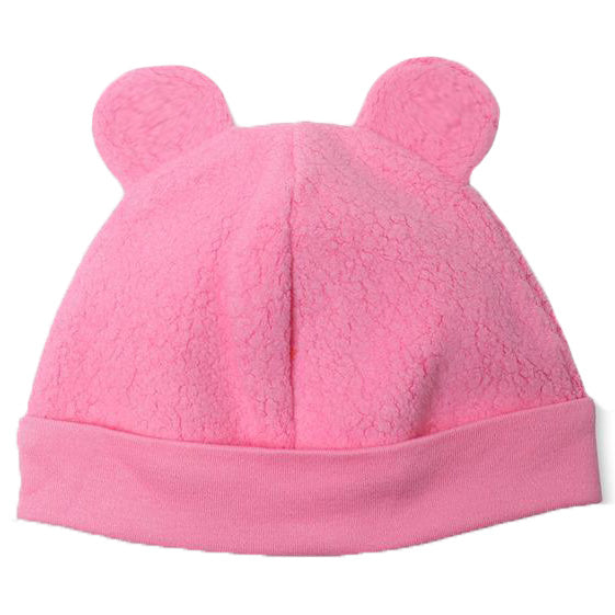 Pink Fuzzy Bear Ear Hat for Baby Girls