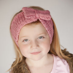 Soft Rose Pink Knit Girl Headband 5- 7 years icon