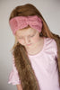 Soft Rose Pink Knit Girl Headband 5- 7 years