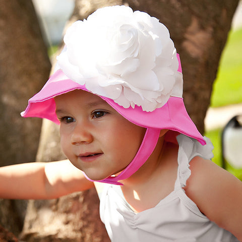 Mademoiselle Hot Pink Baby and Toddler Girl Sun Hat