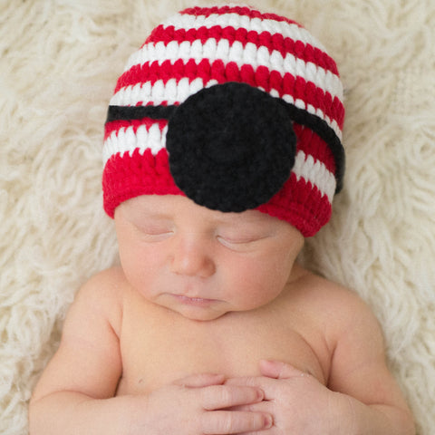 Pirate Patch Baby Boy Hat