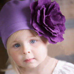 Purple Princess Baby Hat