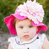 Raspberry Ice Baby Sun Hat - for baby girls and toddlers