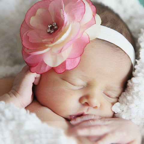Raspberries and Cream Baby Headband