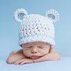 Sugar Bear Boy with Light Blue Trim - White