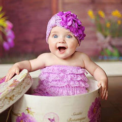 Little Lavender Turban with Purple Geranium Petals Baby Girl Hat icon