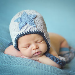 Twinkle Little Star Baby Boy and Toddler Hat