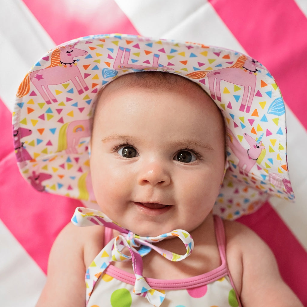 Unicorn Circus Baby Girl Sun Hat- Baby Sun Hat - Toddler Sun Hat - Baby Girl Sun Hat
