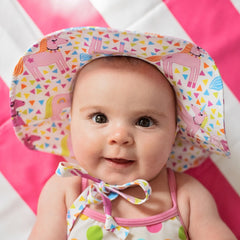 Unicorn Circus Baby Girl Sun Hat- Baby Sun Hat - Toddler Sun Hat - Baby Girl Sun Hat icon