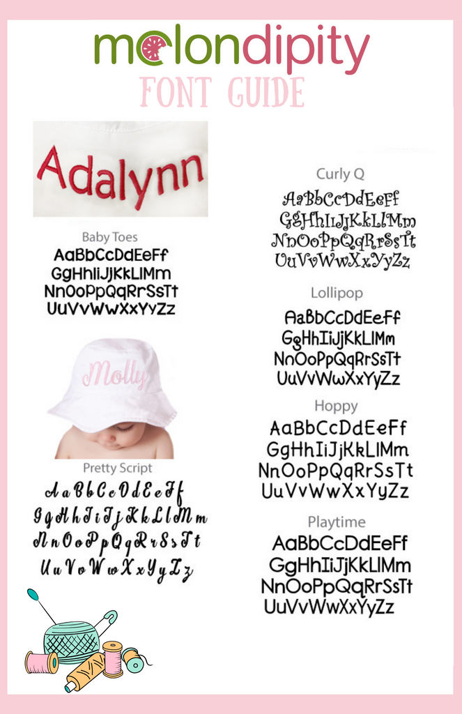 Personalized Sun Hat for Baby and Toddler Girls - White or Pink