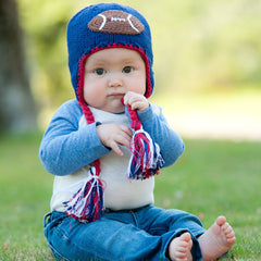 USA Football Baby Boy and Toddler Hat - Red White and Blue (Brown Football) icon