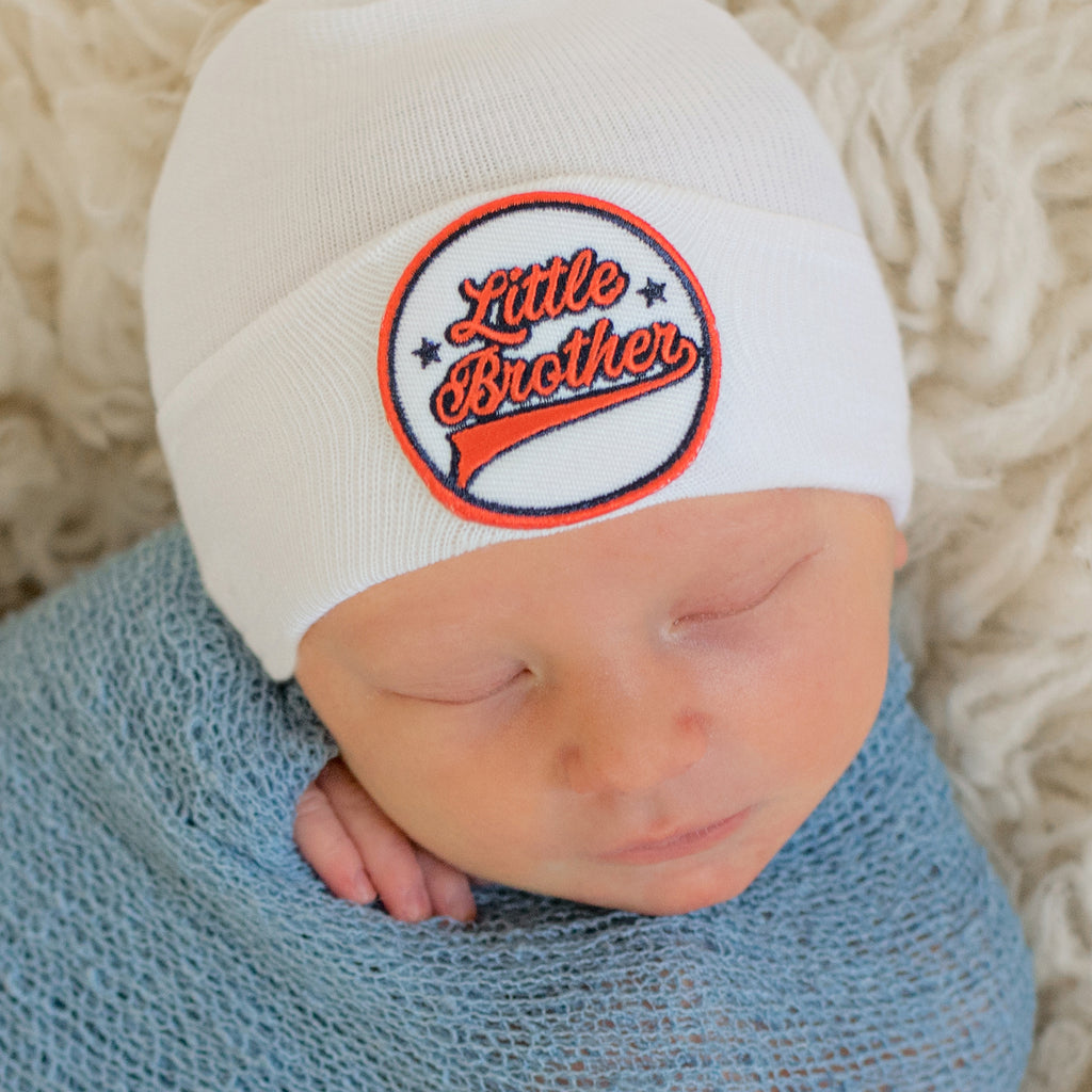 All Star Little Brother (or Little Sister) Newborn Boy Hospital Hat