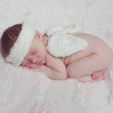 Newborn Angel Crochet Headband and Wings Set