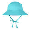 Aqua Blue Swim Hat for Babies and Toddlers with Sun Protection - Baby Boys Toddler Boys