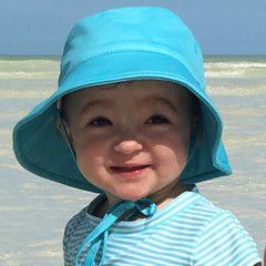 Aqua Blue Swim Hat for Babies and Toddlers with Sun Protection - Baby Boys Toddler Boys icon