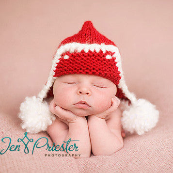 Super Cute Red Aviator Baby Hat - for boys or girls