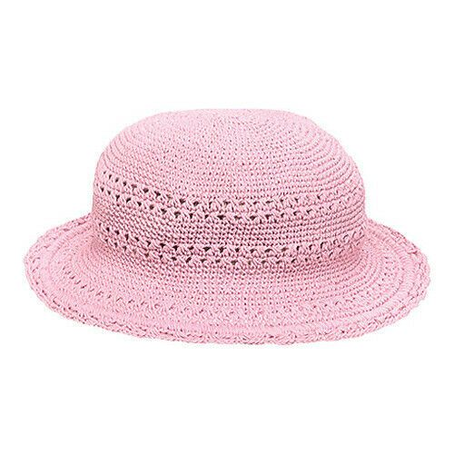 Soft Pink Crochet Girl's Sun Hat
