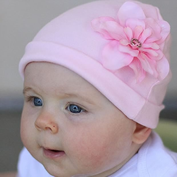 Baby Bella Rose Flower Beanie Newborn Baby Hat
