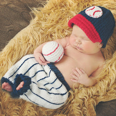 Baby Baseball Visor, Pants and Plush Baseball 3 piece SET icon