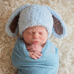 Baby Blue and Brown Bunny Bop Easter Baby Hat icon