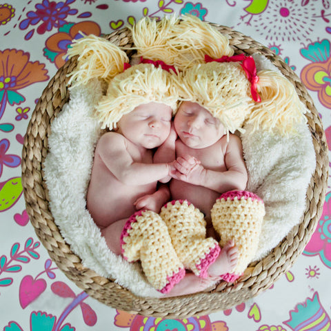 Doll Baby Hat for Baby Girls - Blonde