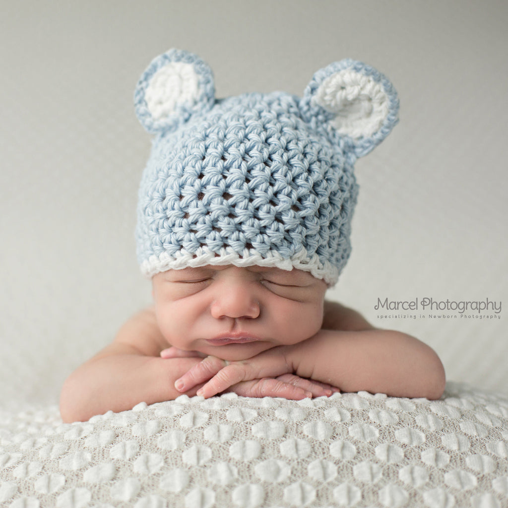 Baby Blue Sugar Bear with White Trim - Blue