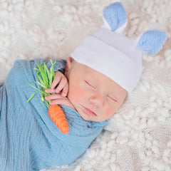 Nursery Bunny Blue Newborn Boy Hospital Hat icon
