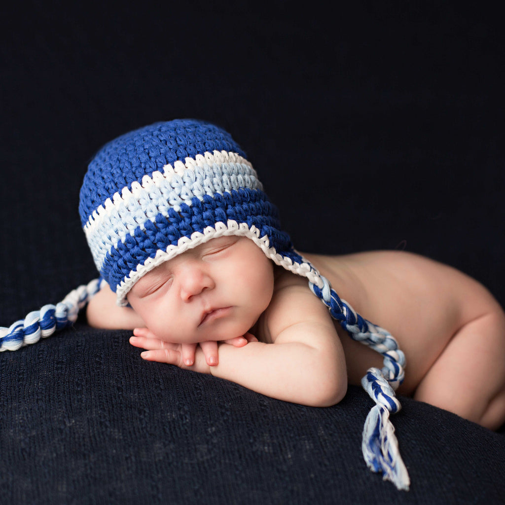 Baby Blues Boy Beanie with Braids