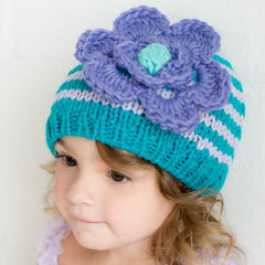 Lilac Bloom Baby Girl and Toddler Beanie icon