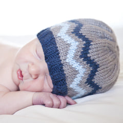 Baby Blues Chevron Baby Boy Beanie icon