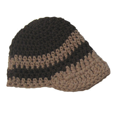 Chocolate Chip Beanie Visor Baby Hat