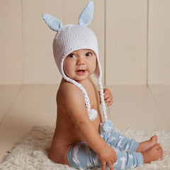Bunny Boy Blue Baby Boy and Toddler Hat