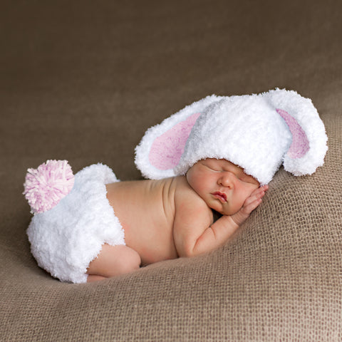 Bunny Baby Bop For Baby Girls Hat and Diaper Cover