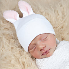 Nursery Bunny Pink Newborn Girl Hospital Hat icon