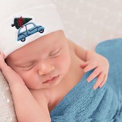 Boys Christmas Car Hospital Hat - Newborn Hospital Hat icon
