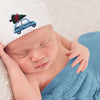 Boys Christmas Car Hospital Hat - Newborn Hospital Hat