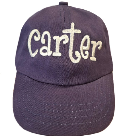 Personalized Navy Blue Baseball BABY Cap with Baby's Name