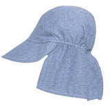 Solid Blue Chambray  Sun & Swim Sun Hat for Baby Boys