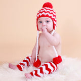 Chevron Santa Baby Hat and Toddler Hat for Boys and Girls - Christmas Babies