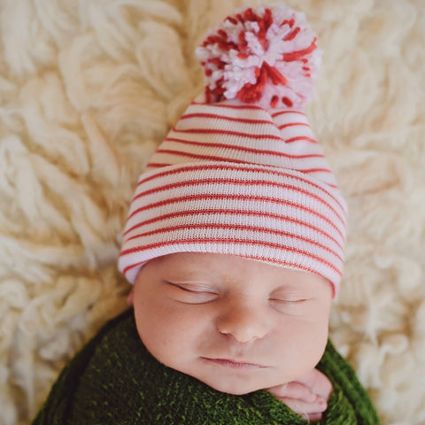 dee387b8a57 Christmas Candy Cane Striped Hospital Hat with Mixed Red   White ...