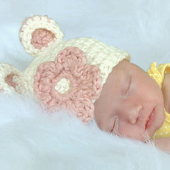Chunky Sugar Bear Baby Girl Beanie Hat icon