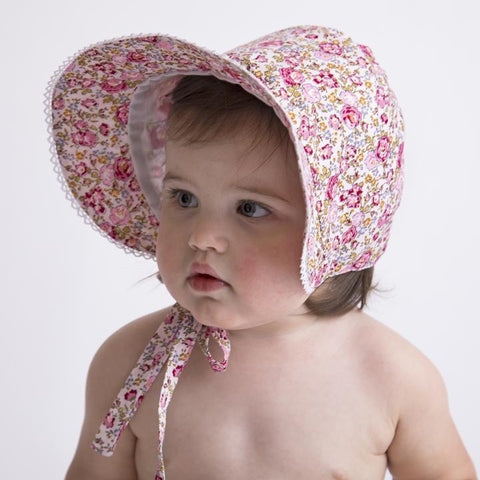 23f3c253 Rose Garden Vintage Bloom Baby Girl's Bonnet - Bonnet for Baby Girls ...