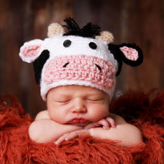 Cow Jumped Over the Moon Newborn Hat and Diaper Cover Set icon