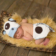 Boy Moo Cow Hat and Diaper Cover Set icon