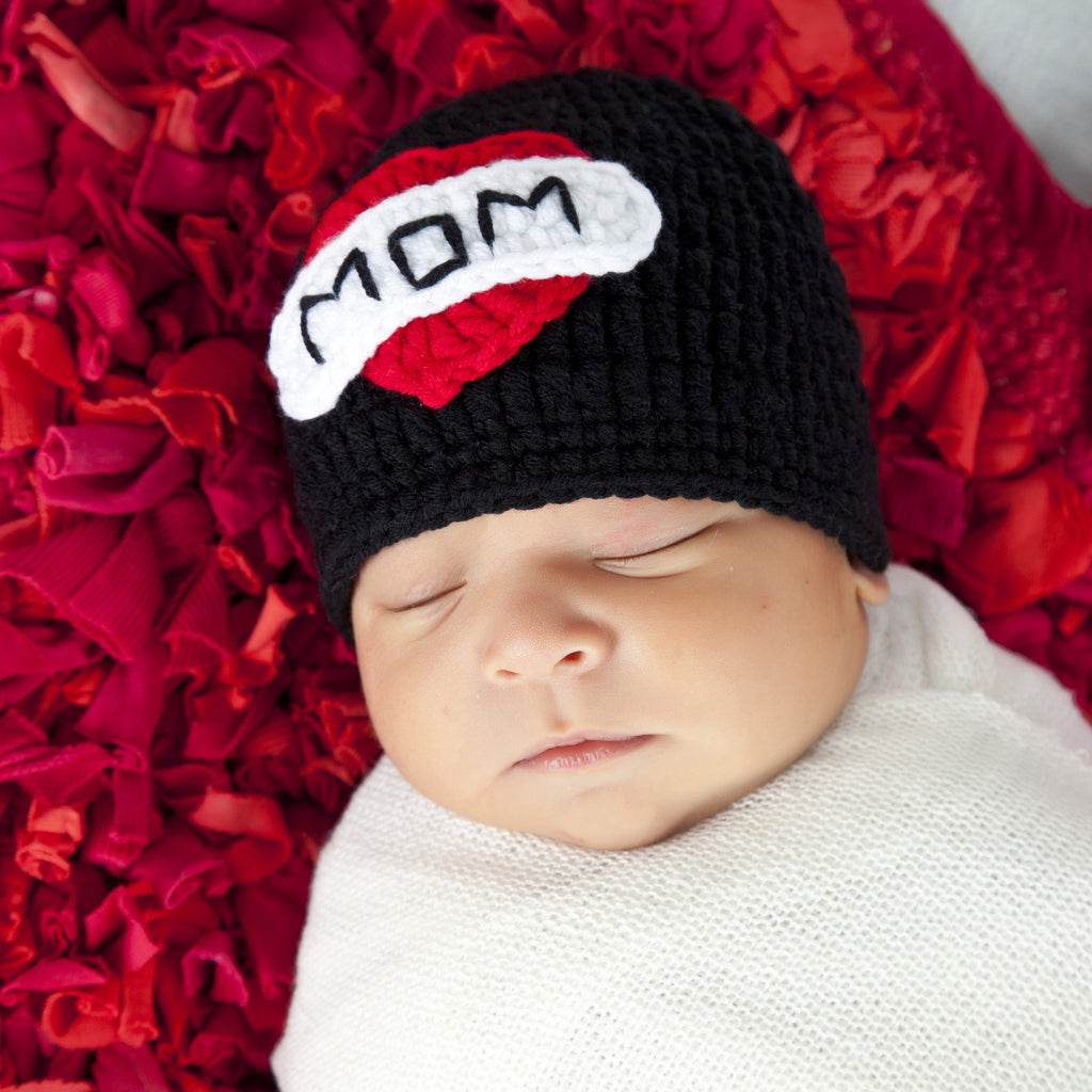 Mom Tattoo Baby Hat for boys or girls