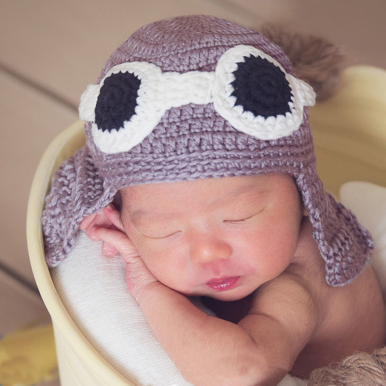 Original Aviator Hat for Newborn Boys