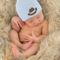 Cowboy Blue Newborn Hospital Hat - Newborn Boys icon